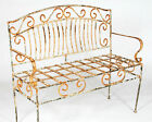 Wrought Iron Venetian Bench, Metal Several colors, Patio and Deck Furniture