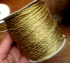 VINTAGE JAPAN Gold METALLIC Twisted  CORDING 1/8 or 1/16 Trim 50yd Holiday