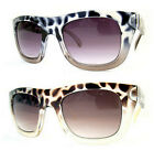 Leopard Skin Design Fashion Nerd Sunglasses Dark Lens Frame 80s Retro Qwin UV400