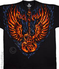 NEW Music Blazing Guitar Skeleton Guitar Rock Skull Concert T Shirt M  L XL 2X
