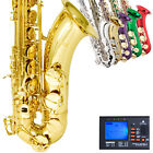 Mendini Tenor Sax Saxophone ~Gold Silver Blue Green Purple Red +Tuner+CareKit