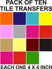 """4"""" Tile transfers stickers 10,20,30,40,50,100,200, your choice of colours"""