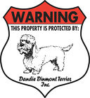 7 x 8 Inch Security Aluminum Dog Signs - Chinese Crested to English Spaniel