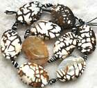 20x30mm 25x40mm 25x35mm 15x20mm Crab Agate Oval Twist Loose Beads 14""