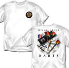 It's All About Darts - White T-shirt - Adult Sizes
