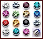24Pc X 4mm/5mm Magnetized Earring Crystal Men's Magnet Earring Mixed Color--E009