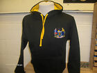 Brand New Cornwall Black & Gold Hoody With Embroidered Cornish Slogan