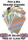 Pick & Mix School Teacher Reward Stickers - Gold Stars, Smiles, Hearts, Awards..