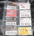 ( 5 ) 8 Pockets Pages for 3 Ring COUPONS BINDER ORGANIZERS, SLEEVES - FREE SHIP