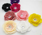 5PX Fabric Flower Brooches Crystal Hair Clip Bridal flower Girl Party Boutique