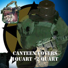 Canteen Cover 1Qt 2 Quart OD Black Woodland Camo ACU MOLLE Military Genuine G.I