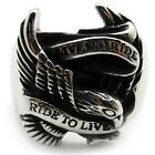 gothic biker eagle tercel phoenix Men's bands ring stainless steel punk