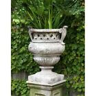 "21"" Weave Top Planter Urn - Fiberstone Flower Pot for Home & Garden"