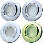 1->10er Sets Power LED Einbaustrahler Timo 230Volt Deckenstrahler. 3W Downlights