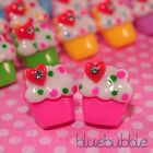 ♥FUNKY CUPCAKE EARRINGS KITSCH CUTE RETRO SNACK JUNK FOOD MUFFIN PICK COLOUR♥