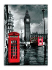 2382 London Canvas Red Phone  Bus Wall Art Print