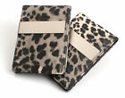 Tiger Skin Pattern Money Clip Wallet Faux Leathe /Gray