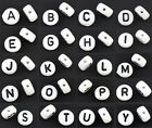500 Acrylic Alphabet/Letter Round Spacer Beads 7mm M0339