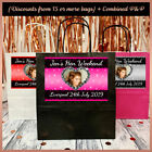 Personalised LACE Print Photo PARTY BAGS - Hen Night Birthday Party - pink black