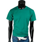 Mens new crewneck solid casual basic Elastic T-shirts TP_001_Green