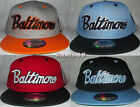 BRAND NEW FLAT PEAK VINTAGE BALTIMORE SNAPBACK BASEBALL CAP WITH TAGS