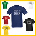 MADE IN 1972 (40th BIRTHDAY) JOKE T-SHIRT - MANY COLOURS AND SIZES (S-3XL)