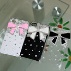 Handmade Cute BOW Bling Diamond Crystal Case Cover for iPhone 4 4G 4S Free Track