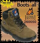 Mongrel Work Boots (260050) Stel-Toe Safety Olive Nubuck Lace-up  Brand New*