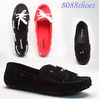 Women's Casual Walking Flats Ballerinas Shoes Loafers Sandle  Black & Red NEW