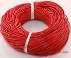 100% Real Leather Cord 10/100m Length Jewelry Necklace String Thread Pick Color