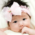 Baby Toddler Girl Lace Flower Bow Hair Clip Pin Band Headband