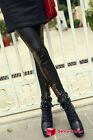 Women Lady Sexy Leopard Splice Imitation Leather Leggings Tights Pants New Hot