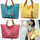 Women's Fashion PU Leather One Shoulder Bags Shopper Tote Handbags 5 Colors Top