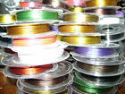 Tigertail Nylon Coated Stainless Steel Beading Wire, Many Colors, 0.38mm, 33 ft