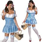 Ladies Sexy Dorothy Wizard of Oz Sequinned Halloween Fancy Dress Costume Outfit