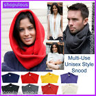 Snood Scarf Hat Warm Knitted Winter Head Over Wrap Around Shawl Neck Warmer Tube