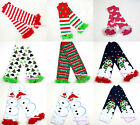 Baby Girls Christmas Style Optional Warm Leg Warmer with Ruffles for Pettiskirt