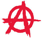Anarchy Punk Logo Iron On T-shirt Hoodie Vest  Heat Transfer Print