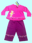 UPSY DAISY 2 PC SET - FULL SLEEVE TOP  AND PANT (PINK WITH PURPLE)BNWT