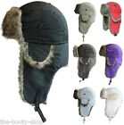 MENS LADIES BOYS WINTER THERMAL RUSSIAN RAIN SHOWER PROOF SKI TRAPPER FUR HAT