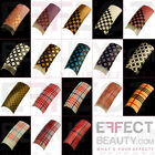 100 Striped & Checked Acrylic Pre-Designed Nail Tips 18 Designs to Choose From!
