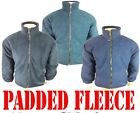 *PADDED FLEECE* JACKET THICK WARM QUILTED ANTI PILL MENS ZIP UP S,M,L,XL,XXL