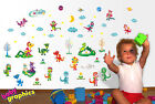 Happy Dragons removable wall stickers set (over 40 elements) - by babygraphics