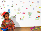 Flowers,  Butterflies,  Trees,  Bees removable wall stickers scene - babygraphics