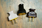 Vintage Style 2 Prong Electrical Plug Black Brown or White, Great w. Cloth Wire