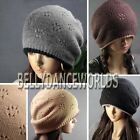 WOMEN BAGGY OVERSIZED BEANIE SLOUCHY KNIT HAT CROCHET SKULL CAP WINTER UNISEX
