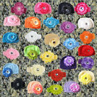 new MM free ship toddler newborn baby knitted sun beanie crochet hats headbands