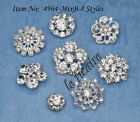 U PICK ~ Crystal Rhinestone Shank Button Charm Bridal Jewelry Accessories #4964