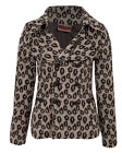 GREY ANIMALIER LEOPARD BIKER JACKET VINTAGE ROCK EMO GOTH ROCKABILLY PIN UP PUNK