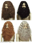 Caveman Wigs Black Brown Red Grey Dwarf Wig like Gimli Lord of the Rings Hobbit